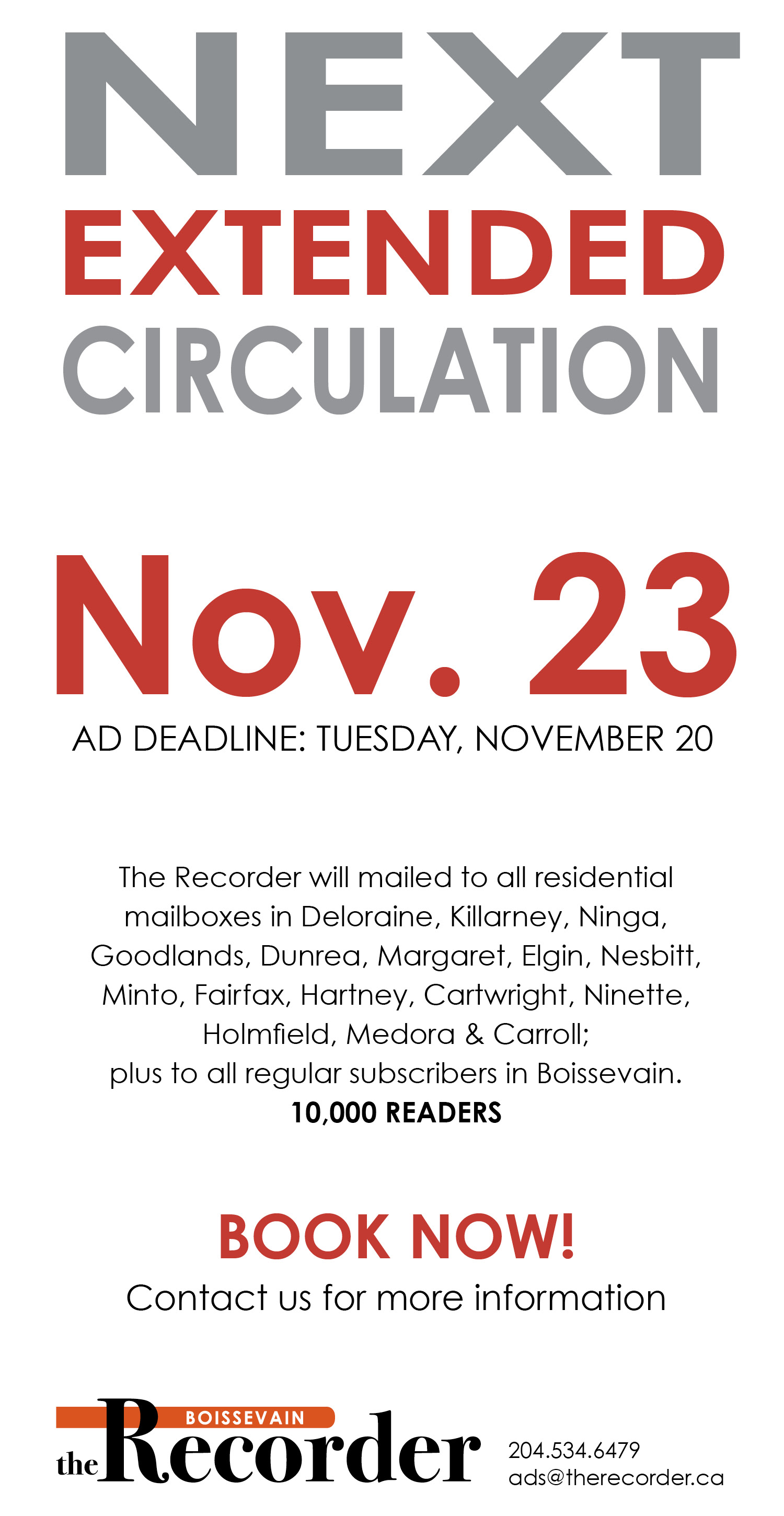 Recorder Ext Nov 23