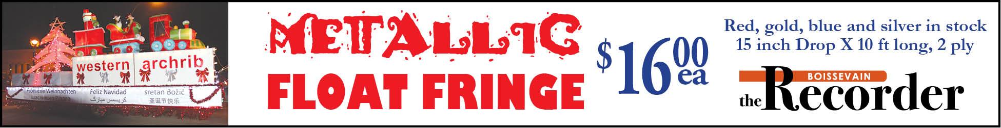 Recorder Float Fringe
