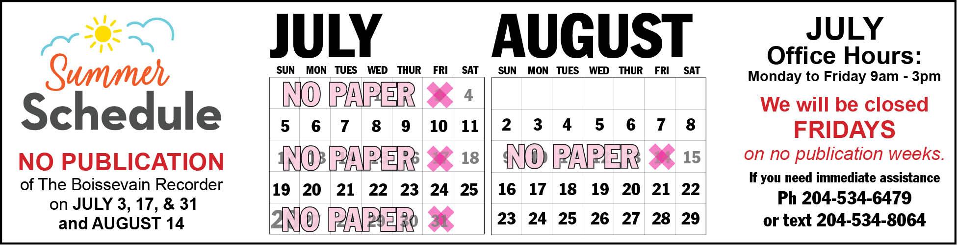 BR_summer schedule