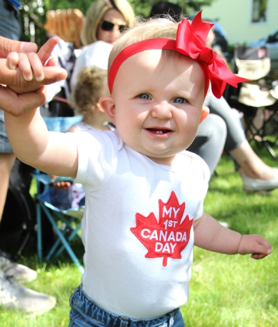 Zoey Jackson, daughter of Bill and Amy, celebrates her first Canada Day.